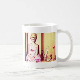 pink dress coffee mug