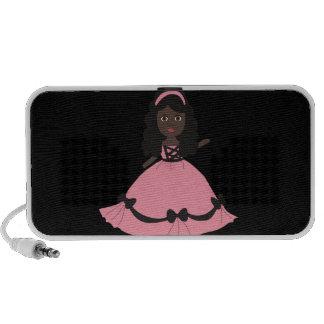 Pink Dress Princess Girl 3 iPod Speakers