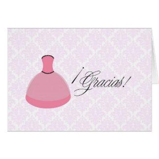 Pink Dress Quinceanera Card