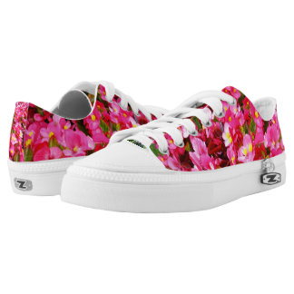 Pink Droplets Of Spring, Lowtop Zipz Sneakers. Low Tops