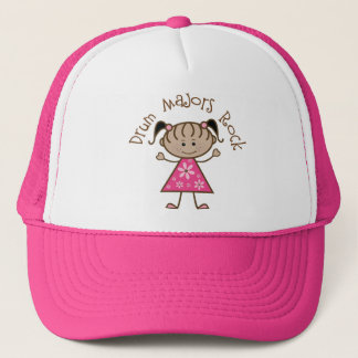 Pink Drum Majors Rock Stick Figure Trucker Hat