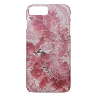 Pink druse crystal geode gem stone photo hipster iPhone 8 plus/7 plus case