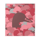 Pink Duck Head Camo Notepad