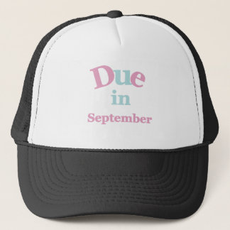 Pink Due in September Trucker Hat