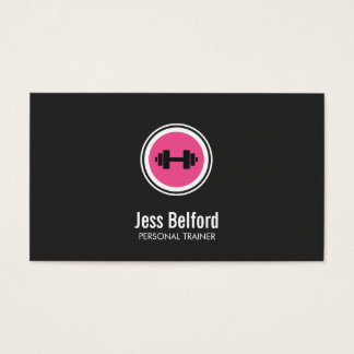 Pink Dumbbell Logo, Personal Trainer, Fitness Gym