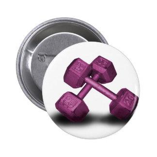 Pink Dumbbells Merchandise 6 Cm Round Badge
