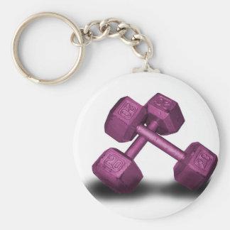 Pink Dumbbells Merchandise Key Ring