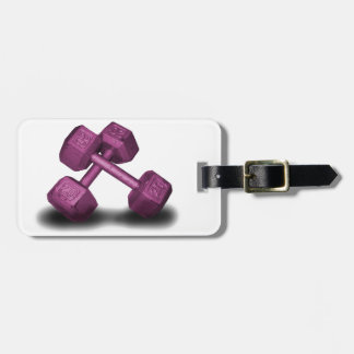Pink Dumbbells Merchandise Luggage Tag
