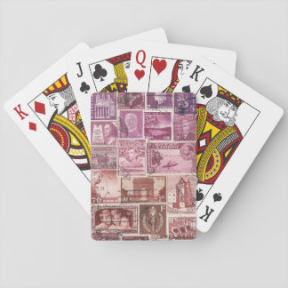 Pink Dusk Ombre Playing Cards, Boho Vintage Travel Poker Cards