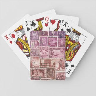 Pink Dusk Ombre Playing Cards, Boho Vintage Travel Poker Deck
