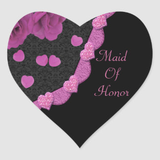 Pink Dusty Rose Baroque & Hearts Sticker