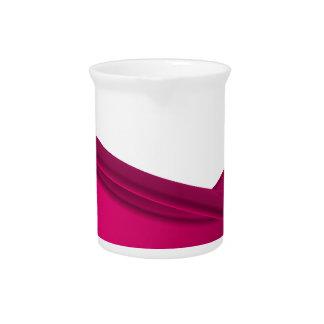 Pink dynamic waves pitcher