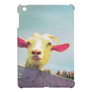 Pink-eared goat case for the iPad mini