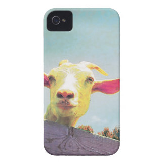 Pink-eared goat iPhone 4 Case-Mate cases