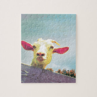 Pink-eared goat jigsaw puzzle