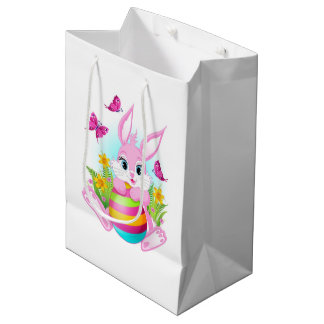 Pink Easter Bunny Medium Gift Bag