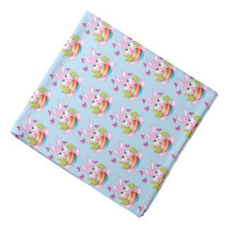 Pink Easter Bunny Pattern Bandana