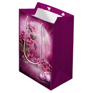Pink Easter Rabbits Medium Gift Bag