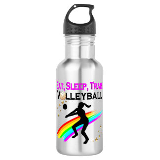 PINK EAT, SLEEP, TRAIN VOLLEYBALL 532 ML WATER BOTTLE