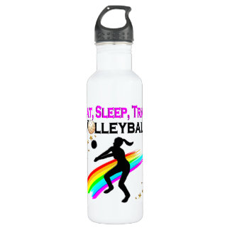 PINK EAT, SLEEP, TRAIN VOLLEYBALL 710 ML WATER BOTTLE
