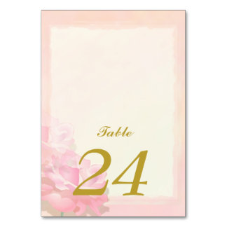 PINK Edge WEDDING Table Card | FLOWER Collection