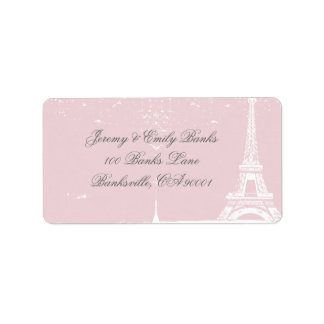 Pink Eiffel Tower Address Labels