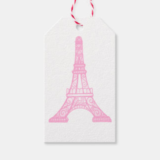 Pink Eiffel Tower Gift Tags