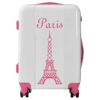 Pink Eiffel Tower Luggage