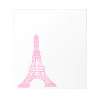 Pink Eiffel Tower Memo Note Pad