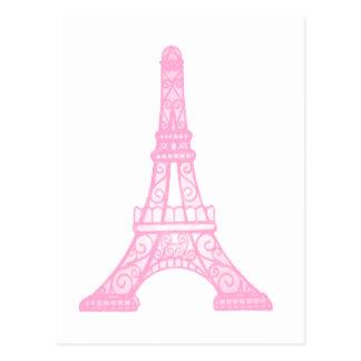Pink Eiffel Tower Postcard