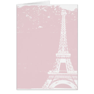 Pink Eiffel Tower Wedding Thank You Cards