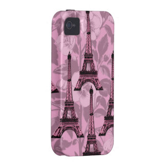 Pink Eiffel Towers iPhone 4/4S Tough Cover iPhone 4 Cover