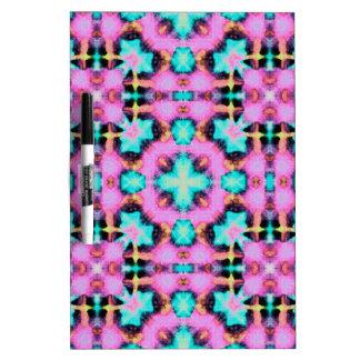Pink Electric Shibori Patterned Dry-Erase Boards