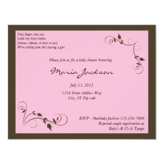 Pink Elegance Baby Shower Invitation