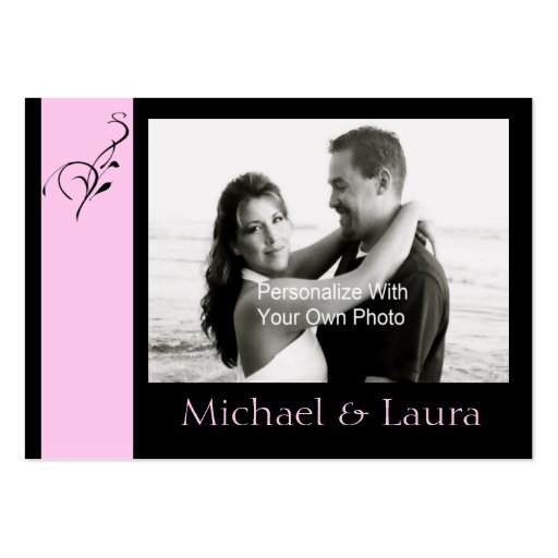 Pink Elegance Mini Save The Date Card Business Card Template