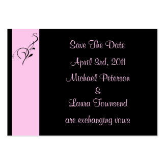 Pink Elegance Mini Save The Date Card Business Cards