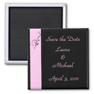 Pink Elegance Wedding Square Magnet