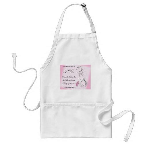 Pink elegant Bachelorette Party Design Aprons