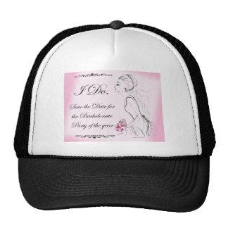 Pink elegant Bachelorette Party Design Cap