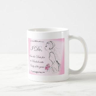 Pink elegant Bachelorette Party Design Coffee Mug