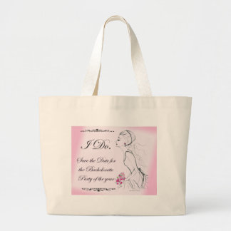 Pink elegant Bachelorette Party Design Jumbo Tote Bag