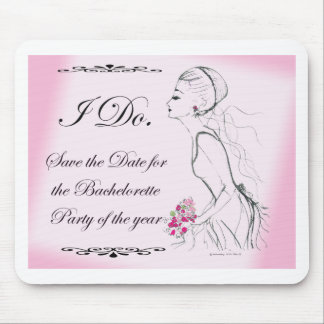 Pink elegant Bachelorette Party Design Mouse Pads
