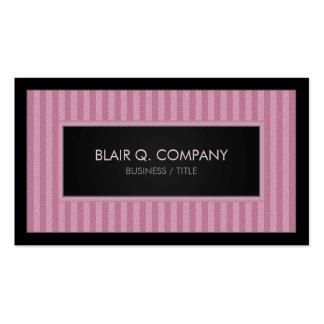 Pink Elegant Vertical Stripe Business Card