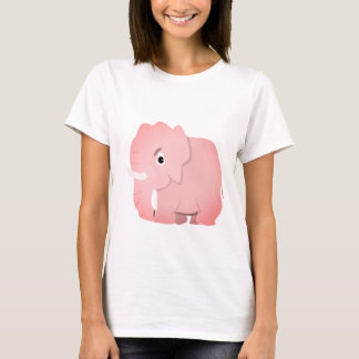 Pink Elephant Baby Fine Jersey T-Shirt