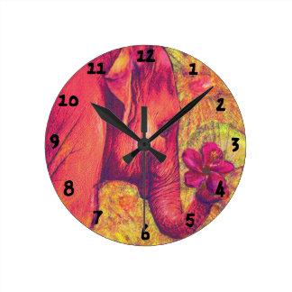 pink elephant clock