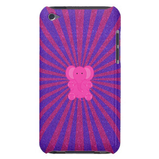 Pink elephant glitter sunburst iPod touch cases
