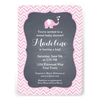 Pink Elephant Heart Cards