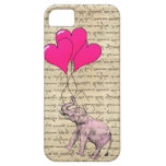 Pink elephant holding balloons case for the iPhone 5