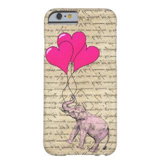 Pink elephant holding balloons iPhone 6 case