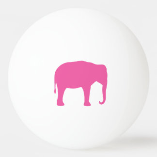 Pink Elephant Silhouette Ping Pong Ball